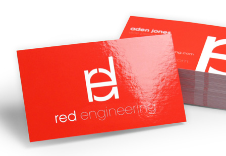 22PT Gloss Laminated Business Cards